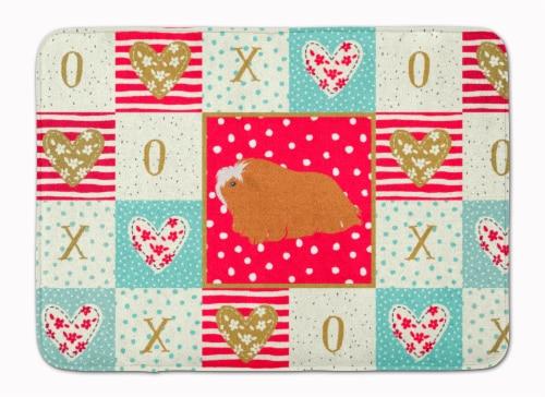 Peruvian Guinea Pig Love Machine Washable Memory Foam Mat Perspective: front
