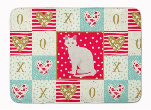 Aphrodite Giant Cat Love Machine Washable Memory Foam Mat Perspective: front