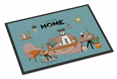 Salt and Pepper Miniature Schnauzer Sweet Home Indoor or Outdoor Mat 24x36 Perspective: front