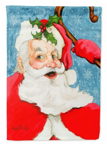 Santa Claus Old Father Christmas Flag Canvas House Size Perspective: front