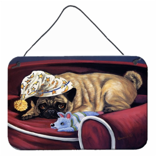 Pug Goodnight Sweetheart Wall or Door Hanging Prints Perspective: front
