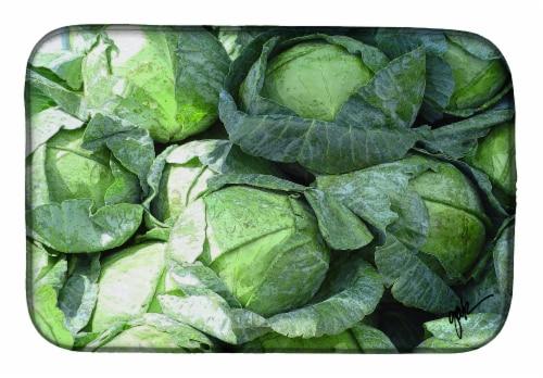 Carolines Treasures  GAK1016DDM Cabbage by Gary Kwiatek Dish Drying Mat Perspective: front