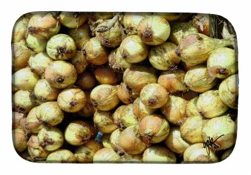 Carolines Treasures  GAK1020DDM Onions by Gary Kwiatek Dish Drying Mat Perspective: front