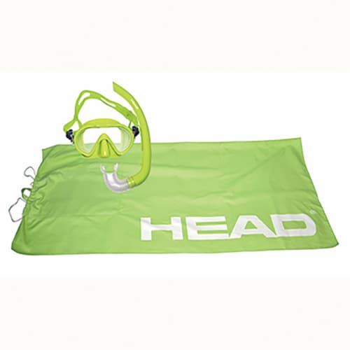 HEAD Adventure Junior Combo 4-in-1 Complete Snorkeling Diving Kit, Lime Green Perspective: front