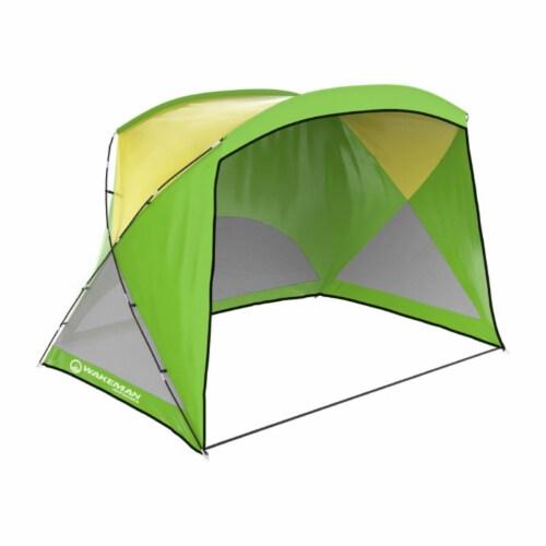Wakeman Outdoors 75-CMP1084 Beach Tent Sun Shelter, Green Perspective: front