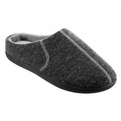 Isotoner® Heather Knit Preston Hoodback Men's Slippers Perspective: front