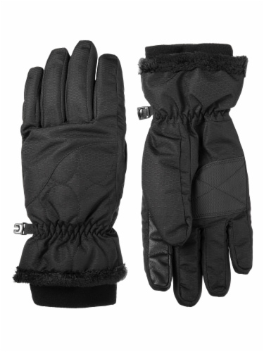 Isotoner­® Women's Medium Ski Gloves - Black Perspective: front