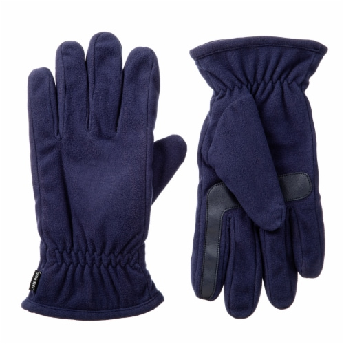 Isotoner­® Men's Extra Large Fleece Gloves - Navy Perspective: front