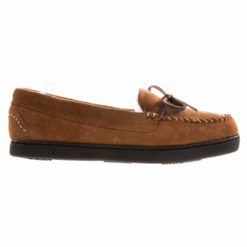 Isotoner® Women's Genuine Suede Moccasin - Brown Perspective: front