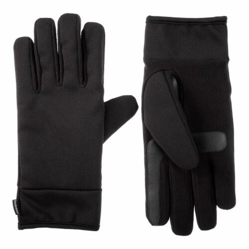 Isotoner® Men's Large Stretch Gloves - Black Perspective: front