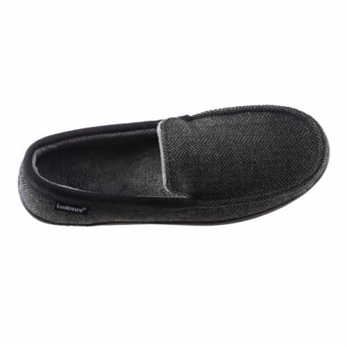 Isotoner® Men's Herringbone Logan Moccasin - Black Perspective: front