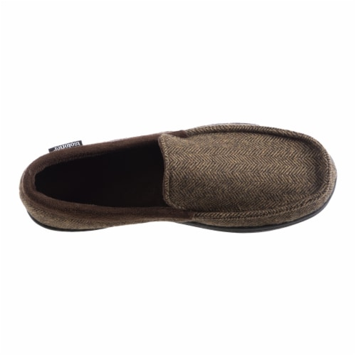 Isotoner® Men's Logan Moccasin Slippers Perspective: front