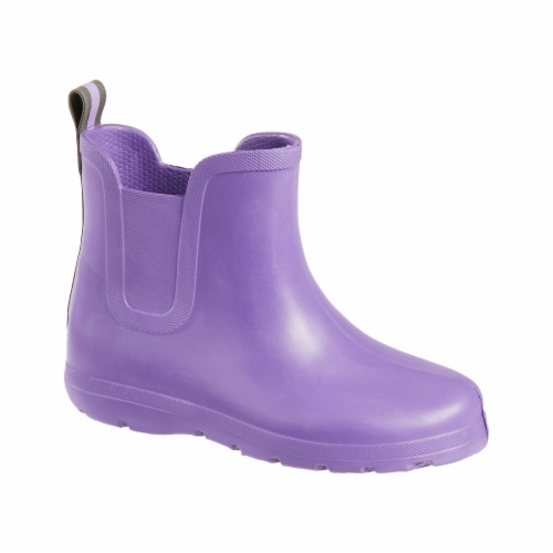 Totes® Toddler's Chelsea Short Rain Boots - Purple Paisley Perspective: front