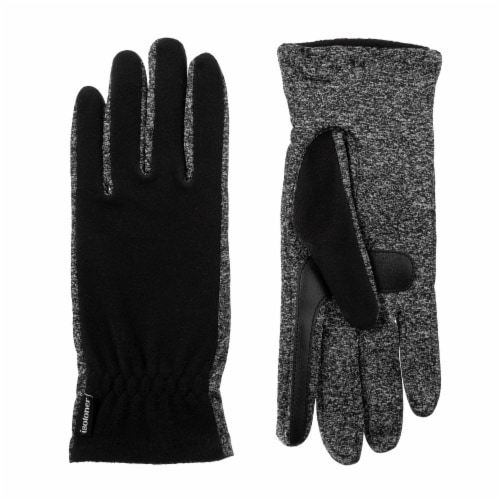 Isotoner­® Women's Fleece Gloves with Spandex Palm - Black Perspective: front