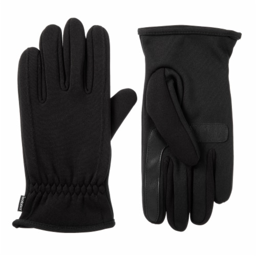 Isotoner­® Men's Extra Large Active Stretch Gloves - Black Perspective: front