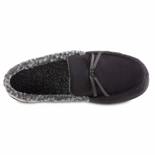 Isotoner® Men's Moccasin Slippers Perspective: front