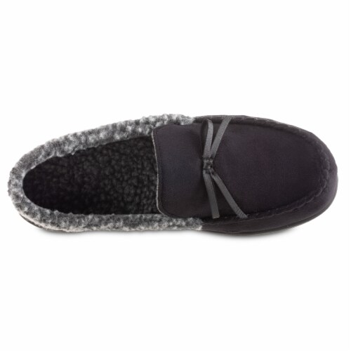 Isotoner® Microsuede Moccasin Men's Slippers Perspective: front