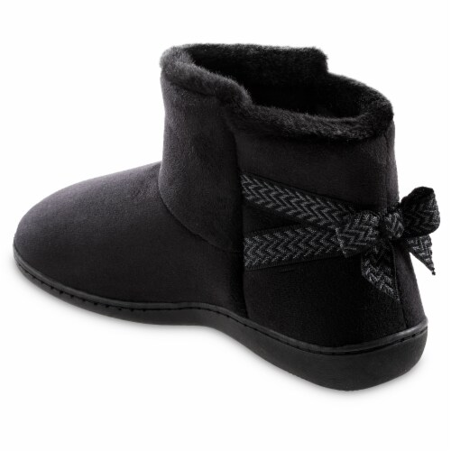 Isotoner® Microsuede Nelly Trim Detail 360 Comfort Boot Perspective: front