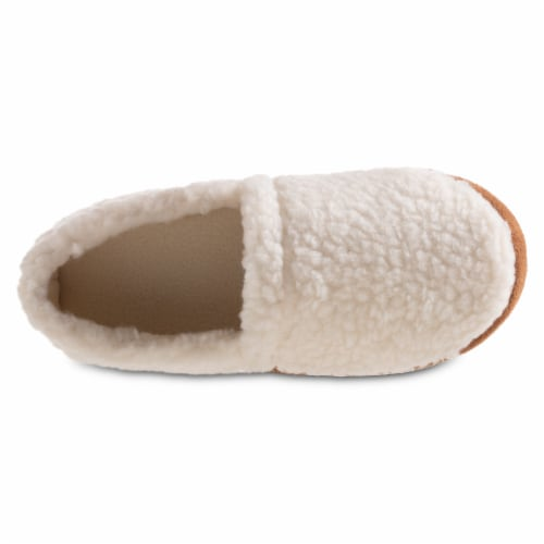 Isotoner® Happy Sheep Berber A-line Slippers - White Perspective: front