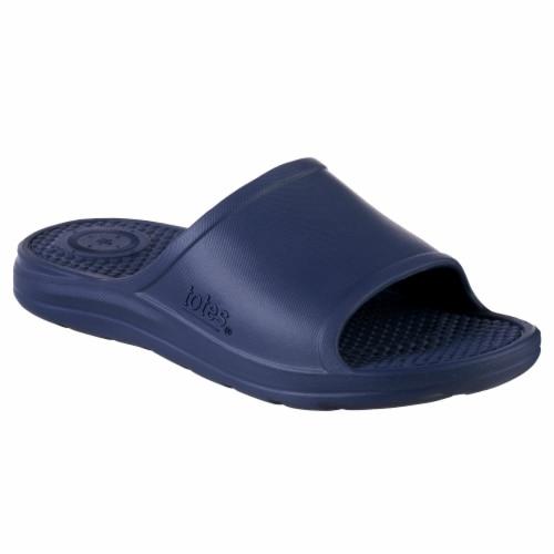 Totes Men's Ara Sport Slide - Navy Blue Perspective: front