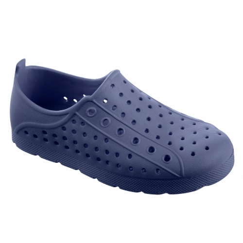Totes Kid's Eyelet Sneaker - Navy Blue Perspective: front