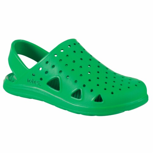 Totes Kid's Splash & Play Clogs - Green Perspective: front