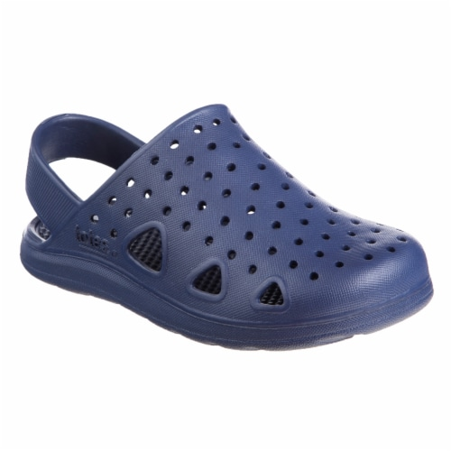 Totes Kids Splash and Play Clog - Navy Blue Perspective: front