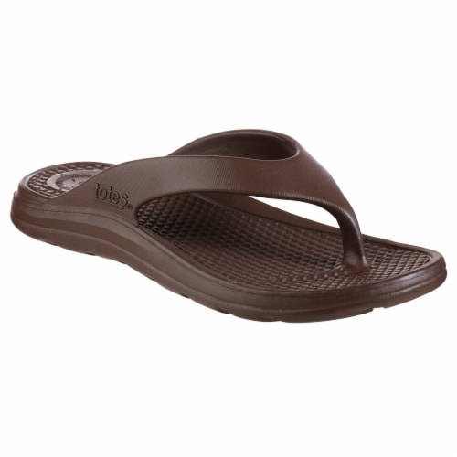 Totes Men's Sol Bounce Ara Thong - Brown Perspective: front
