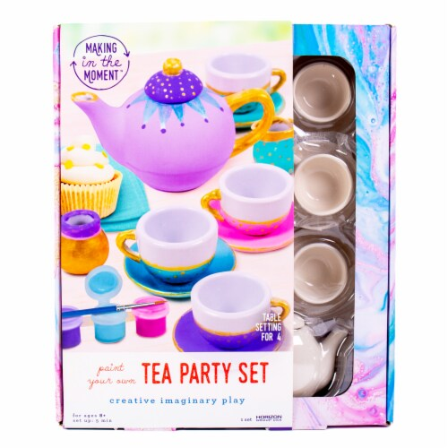 HGU Making in the Moment Paint Your Own Tea Party Set Perspective: front