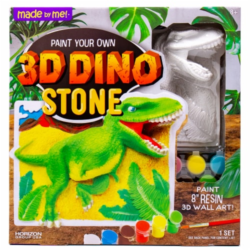 Made By Me Paint Your Own 3D Dinosaur Stone Set Perspective: front