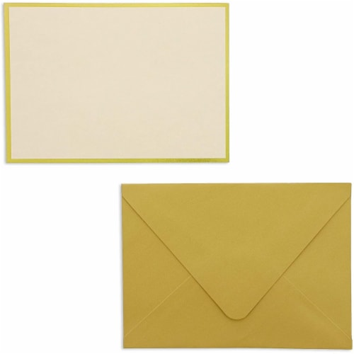 48x Blank Invitation Cards and Envelopes Wedding Baby Bridal Shower Gold 4x6 Perspective: front