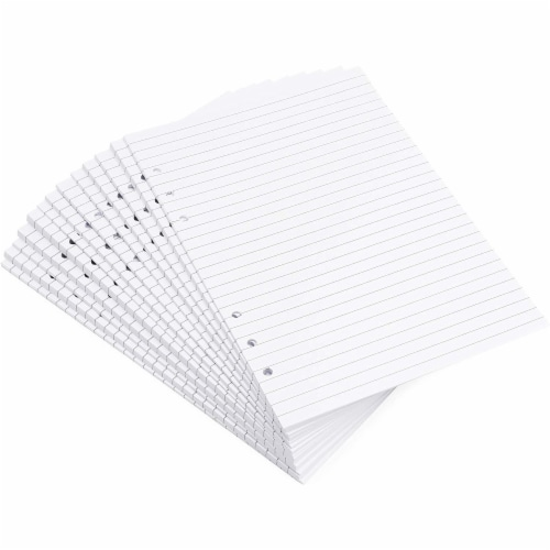 LinedA5 Refill Paper, 6 Hole Punched (8.25 x 5.7 In,250 Sheets) Perspective: front