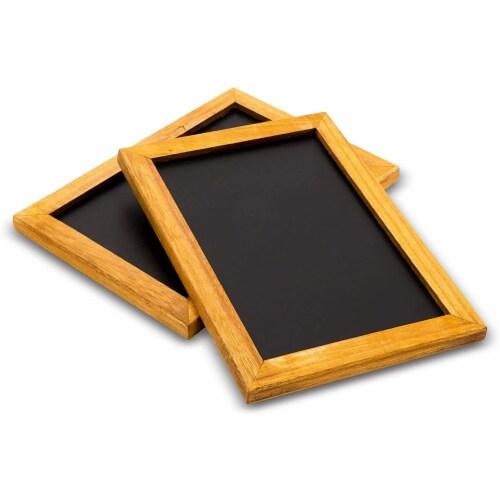 Blue Panda Chalkboard Menu Sign 2 Pack - Vintage menu Sign 10 x 7 inches Perspective: front