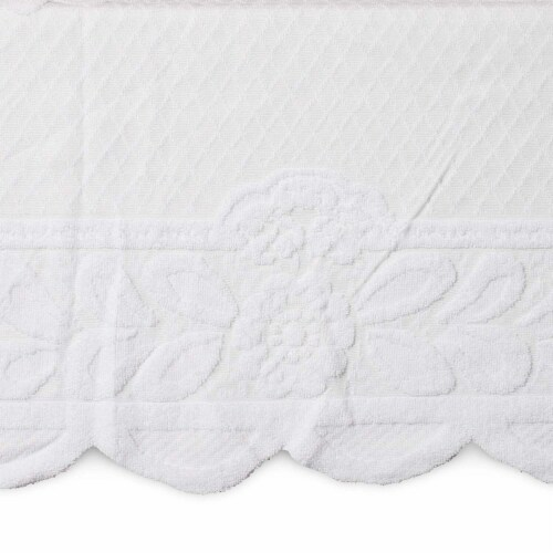 Lace Floral Rectangle Table Cloth Cover for Dining Table, 60 x 98 inches, White Perspective: front