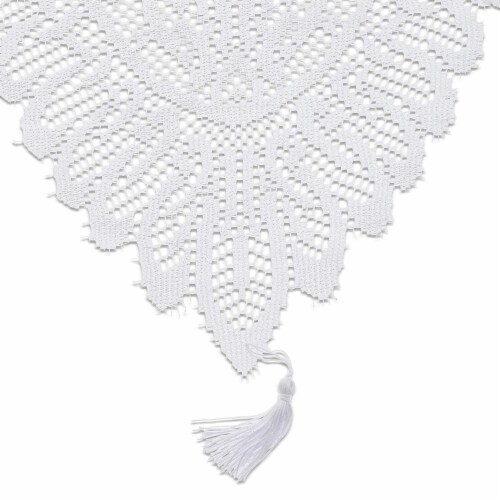 Juvale Lace Table Cloth Runner, 13 x 54 in, White Perspective: front
