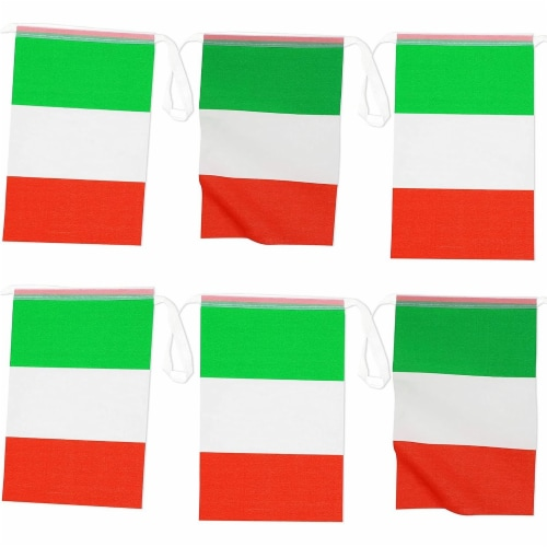 Juvale Italian Flag Banners (100 ft, 80 Flags) Perspective: front