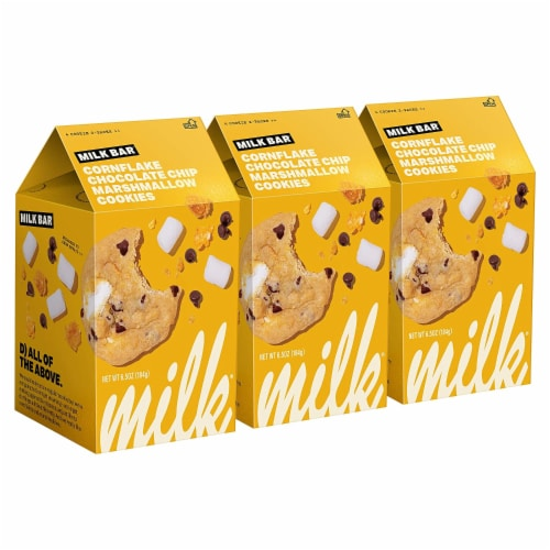 Milk Bar Cookies Cornflake Chocolate Chip Marshmallow - 3 Pack Perspective: front