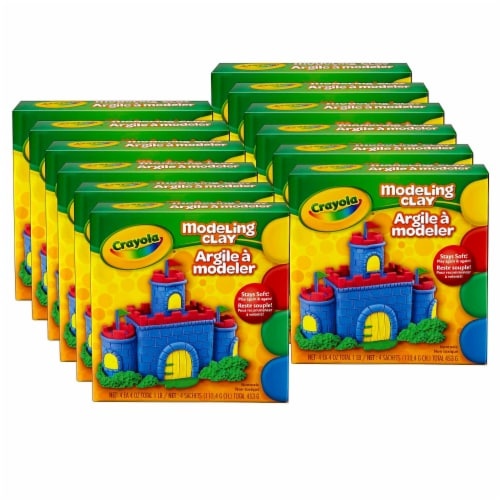 Crayola BIN300-12 Modeling Clay, Multi Color - 4 Piece - 12 Each Perspective: front