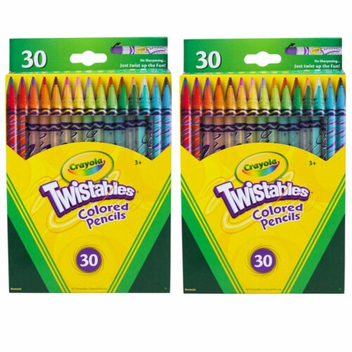 Twistables® Colored Pencils 30 Per Box, 2 Boxes Perspective: front