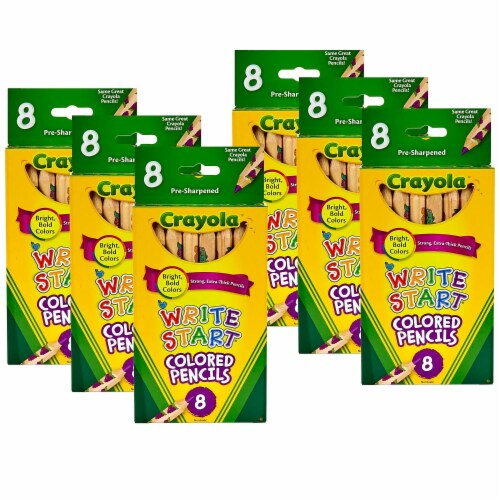 Write Start® Colored Pencils, 8 Per Box, 6 Boxes Perspective: front