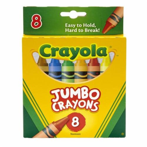 Crayola BIN389-6 Crayons Jumbo 8 Count Peggable Tuck Box - Box of 6 Perspective: front