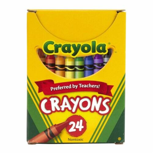Crayola BIN24-12 Regular Size Crayon - 24 Per Pack - Box of 12 Perspective: front