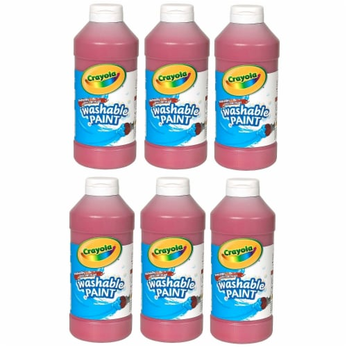Crayola BIN201638-6 16 oz Washable Paint, Red - 6 Each Perspective: front