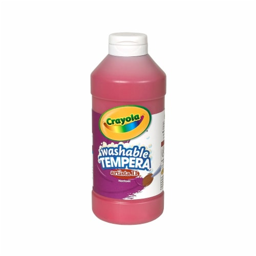 Crayola BIN311538-6 16 oz Artista II Tempera Washable Paint, Red - 6 Each Perspective: front
