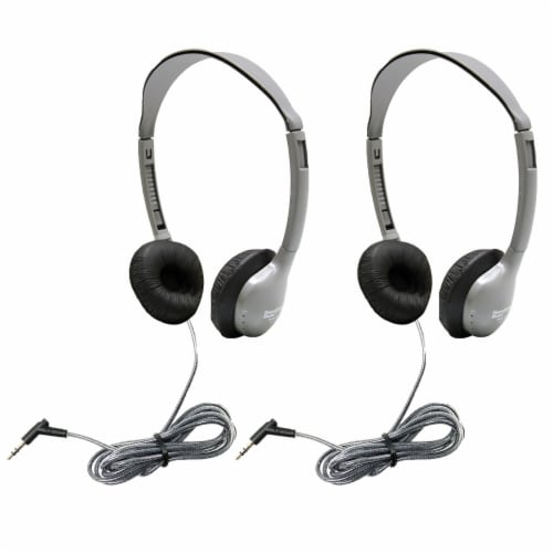 SchoolMate™ Personal Stereo Headphone with Leatherette Cushions, Pack of 2 Perspective: front
