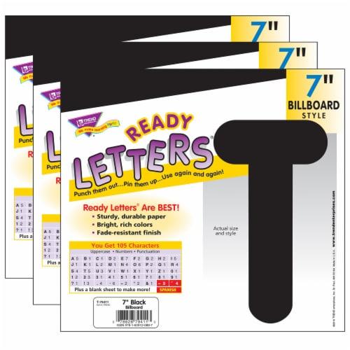 Trend Enterprises Billboard Uppercase Ready Letters - Black Perspective: front