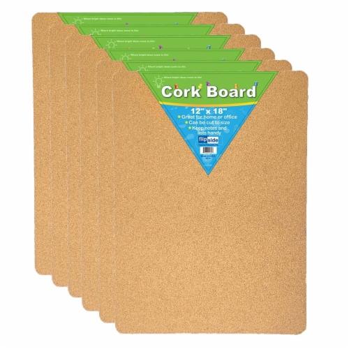 Flipside FLP10082-6 Cork Bulletin Board, 12 x 18 in. - 6 Each Perspective: front