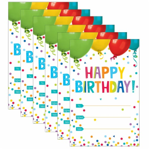 Creative Teaching Press CTP1313-6 Happy Birthday Award Painted Palette - Pack of 6 Perspective: front