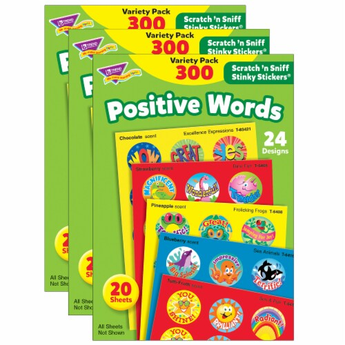 Trend Enterprises Positive Words Stinky Stickers Perspective: front