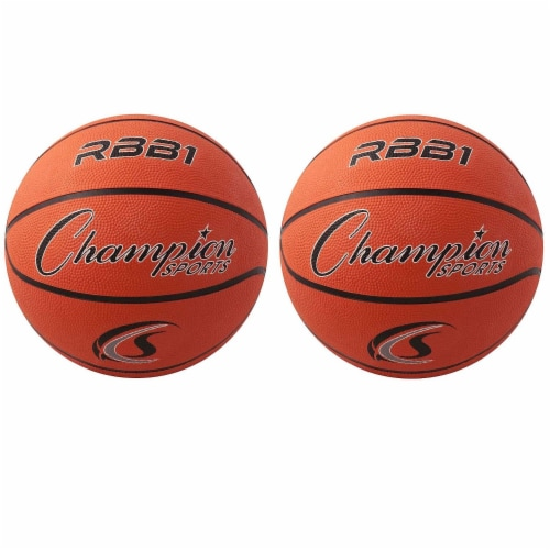 Champion Sports CHSRBB1-2 Champion Basketball - Official Size No 7 - 2 Each Perspective: front